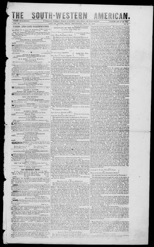 Primary view of object titled 'South-Western American (Austin, Tex.), Vol. 3, No. 50, Ed. 1, Wednesday, May 26, 1852'.
