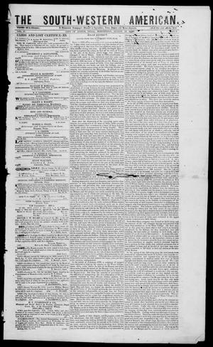 The South-Western American. (Austin, Tex.), Vol. 4, No. 6, Ed. 1, Wednesday, August 18, 1852