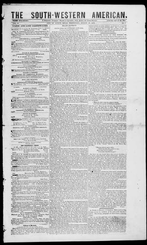 The South-Western American. (Austin, Tex.), Vol. 4, No. 7, Ed. 1, Wednesday, August 25, 1852