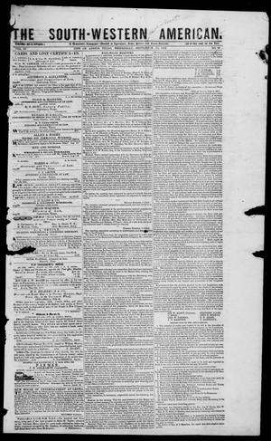 Primary view of The South-Western American. (Austin, Tex.), Vol. 4, No. 10, Ed. 1, Wednesday, September 15, 1852