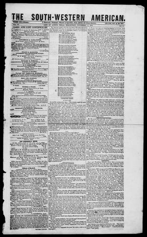 Primary view of South-Western American (Austin, Tex.), Vol. 4, No. 17, Ed. 1, Wednesday, November 3, 1852