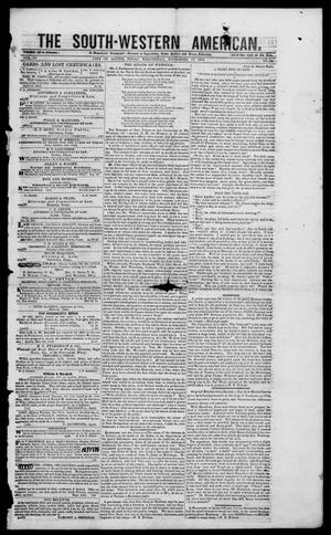 Primary view of object titled 'South-Western American (Austin, Tex.), Vol. 4, No. 19, Ed. 1, Wednesday, November 17, 1852'.