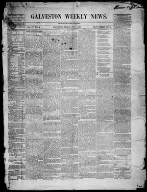 Primary view of object titled 'Galveston Weekly News. (Galveston, Tex.), Vol. 5, No. 4, Ed. 1, Friday, May 5, 1848'.