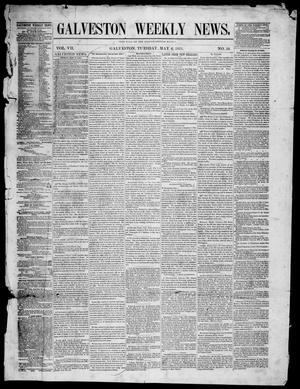 Primary view of object titled 'Galveston Weekly News (Galveston, Tex.), Vol. 7, No. 56, Ed. 1, Tuesday, May 6, 1851'.