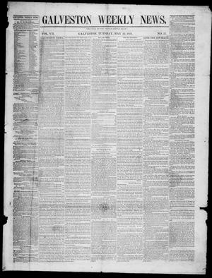 Primary view of object titled 'Galveston Weekly News (Galveston, Tex.), Vol. 7, No. 57, Ed. 1, Tuesday, May 13, 1851'.