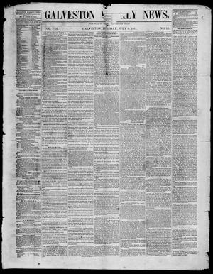 Galveston Weekly News (Galveston, Tex.), Vol. 8, No. 13, Ed. 1, Tuesday, July 8, 1851