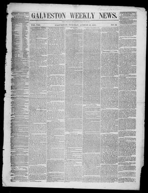 Primary view of object titled 'Galveston Weekly News (Galveston, Tex.), Vol. 8, No. 20, Ed. 1, Tuesday, August 26, 1851'.
