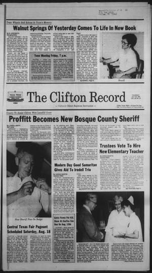 Primary view of object titled 'The Clifton Record (Clifton, Tex.), Vol. 89, No. 30, Ed. 1 Thursday, July 26, 1984'.