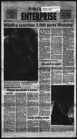 Primary view of Polk County Enterprise (Livingston, Tex.), Vol. 114, No. 27, Ed. 1 Thursday, April 4, 1996