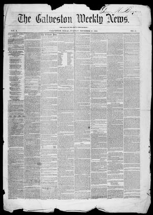 Galveston Weekly News (Galveston, Tex.), Vol. 10, No. 41, Ed. 1, Tuesday, December 27, 1853