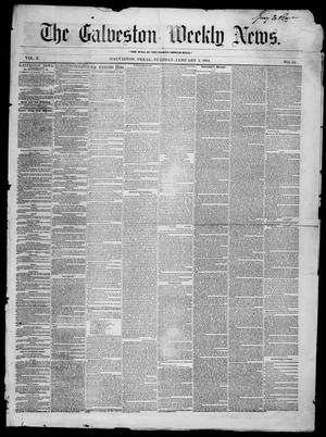 Primary view of object titled 'Galveston Weekly News (Galveston, Tex.), Vol. 10, No. 42, Ed. 1, Tuesday, January 3, 1854'.