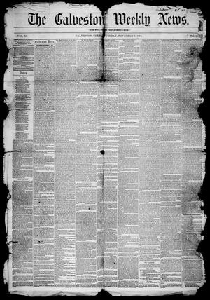 Primary view of object titled 'Galveston Weekly News (Galveston, Tex.), Vol. 11, No. 35, Ed. 1, Tuesday, November 7, 1854'.