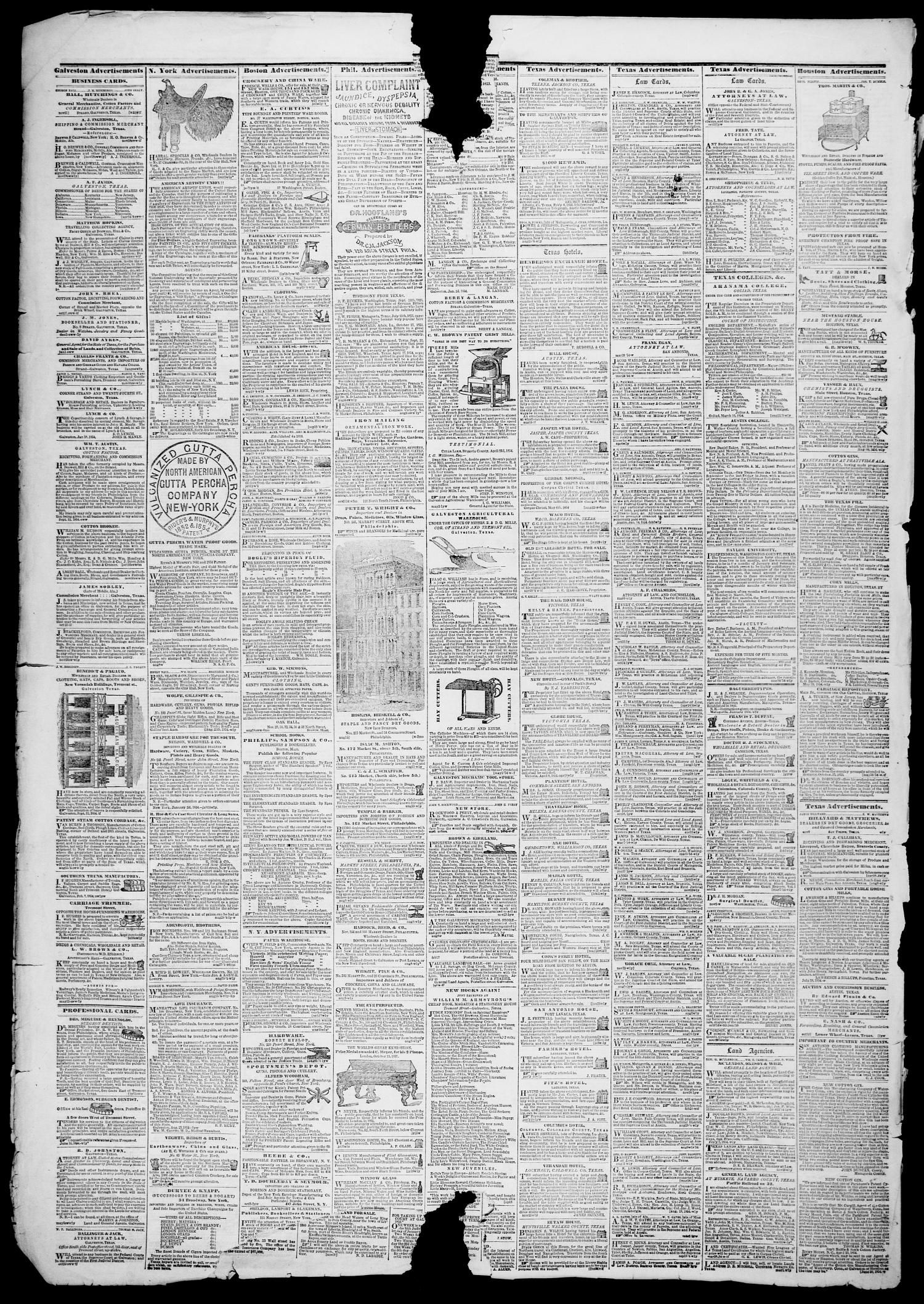 Galveston Weekly News (Galveston, Tex.), Vol. 11, No. 39, Ed. 1, Tuesday, December 5, 1854                                                                                                      [Sequence #]: 4 of 4