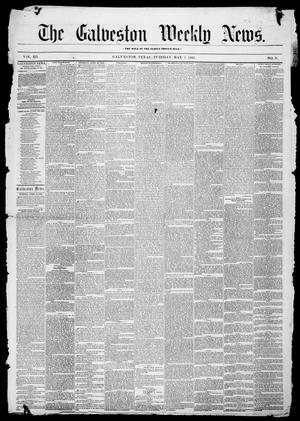 Primary view of object titled 'Galveston Weekly News (Galveston, Tex.), Vol. 12, No. 8, Ed. 1, Tuesday, May 1, 1855'.