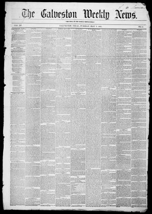 Primary view of object titled 'Galveston Weekly News (Galveston, Tex.), Vol. 12, No. 9, Ed. 1, Tuesday, May 8, 1855'.