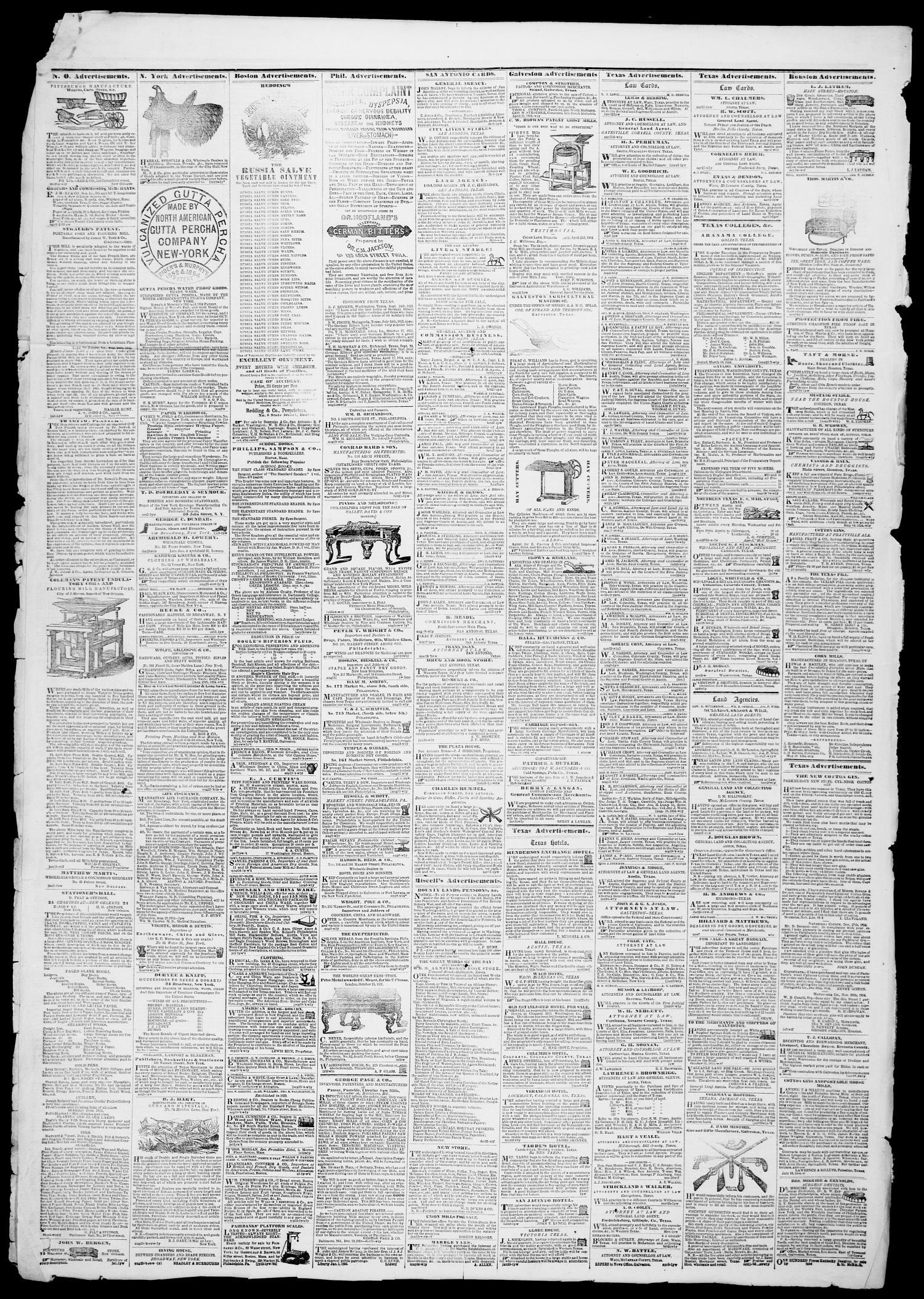 Galveston Weekly News (Galveston, Tex ), Vol  12, No  9, Ed