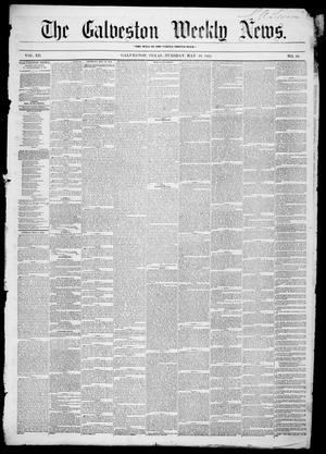 Primary view of object titled 'Galveston Weekly News (Galveston, Tex.), Vol. 12, No. 10, Ed. 1, Tuesday, May 15, 1855'.