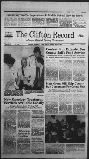 Primary view of object titled 'The Clifton Record (Clifton, Tex.), Vol. 94, No. 9, Ed. 1 Thursday, March 2, 1989'.