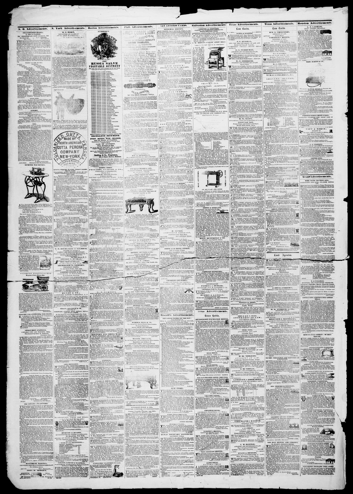 Galveston Weekly News (Galveston, Tex ), Vol  12, No  14, Ed
