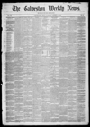 Primary view of object titled 'Galveston Weekly News (Galveston, Tex.), Vol. 12, No. 23, Ed. 1, Tuesday, August 14, 1855'.