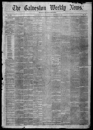 Primary view of object titled 'Galveston Weekly News (Galveston, Tex.), Vol. 12, No. 33, Ed. 1, Tuesday, October 23, 1855'.