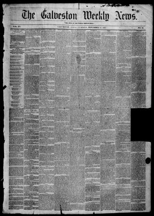 Primary view of object titled 'Galveston Weekly News (Galveston, Tex.), Vol. 12, No. 36, Ed. 1, Tuesday, November 13, 1855'.