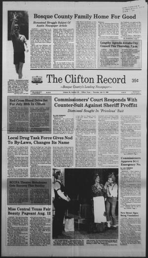 Primary view of object titled 'The Clifton Record (Clifton, Tex.), Vol. 94, No. 28, Ed. 1 Thursday, July 13, 1989'.