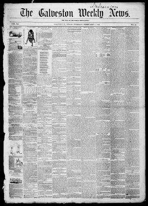 Primary view of object titled 'Galveston Weekly News (Galveston, Tex.), Vol. 12, No. 48, Ed. 1, Tuesday, February 5, 1856'.