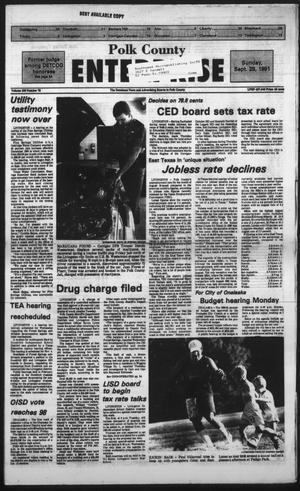 Primary view of Polk County Enterprise (Livingston, Tex.), Vol. 109, No. 78, Ed. 1 Sunday, September 29, 1991