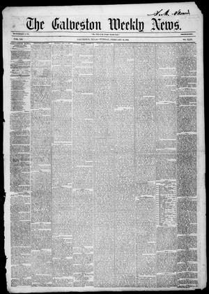Primary view of object titled 'Galveston Weekly News (Galveston, Tex.), Vol. 12, No. 49, Ed. 1, Tuesday, February 19, 1856'.