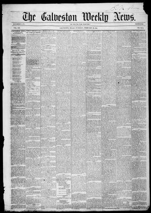 Primary view of Galveston Weekly News (Galveston, Tex.), Vol. 12, No. 50, Ed. 1, Tuesday, February 26, 1856