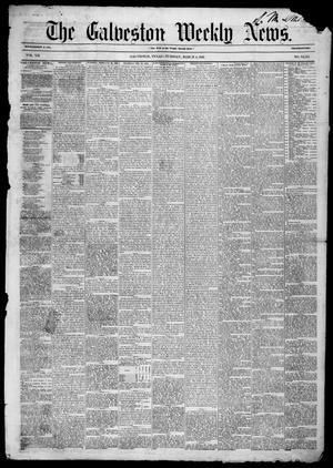 Primary view of object titled 'Galveston Weekly News (Galveston, Tex.), Vol. 12, No. 51, Ed. 1, Tuesday, March 4, 1856'.
