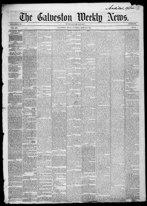 Primary view of Galveston Weekly News (Galveston, Tex.), Vol. 13, No. 2, Ed. 1, Tuesday, March 25, 1856