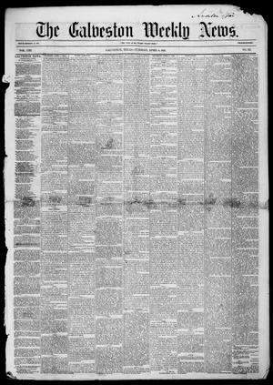 Primary view of object titled 'Galveston Weekly News (Galveston, Tex.), Vol. 13, No. 3, Ed. 1, Tuesday, April 8, 1856'.