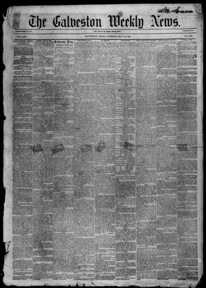 Primary view of object titled 'Galveston Weekly News (Galveston, Tex.), Vol. 13, No. 19, Ed. 1, Tuesday, July 29, 1856'.