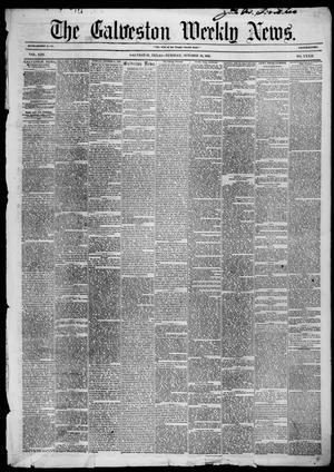 Primary view of Galveston Weekly News (Galveston, Tex.), Vol. 13, No. 32, Ed. 1, Tuesday, October 28, 1856