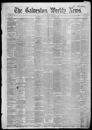 Primary view of Galveston Weekly News (Galveston, Tex.), Vol. 13, No. 34, Ed. 1, Tuesday, November 11, 1856
