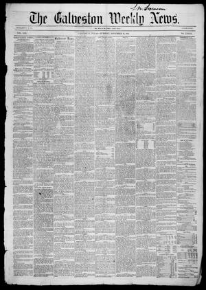 Primary view of object titled 'Galveston Weekly News (Galveston, Tex.), Vol. 13, No. 36, Ed. 1, Tuesday, November 25, 1856'.
