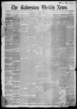 Primary view of object titled 'Galveston Weekly News (Galveston, Tex.), Vol. 13, No. 44, Ed. 1, Tuesday, January 20, 1857'.