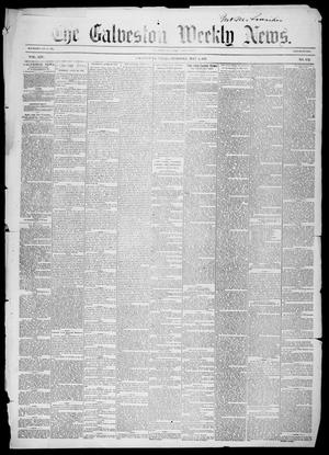Primary view of object titled 'Galveston Weekly News (Galveston, Tex.), Vol. 14, No. 7, Ed. 1, Tuesday, May 5, 1857'.