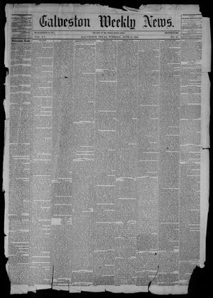Primary view of object titled 'Galveston Weekly News (Galveston, Tex.), Vol. 15, No. 10, Ed. 1, Tuesday, June 15, 1858'.