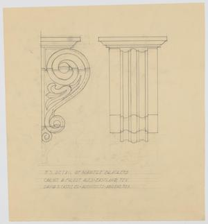 Primary view of Frost Residence, Eastland, Texas: F.S. Detail of Mantle Brackets