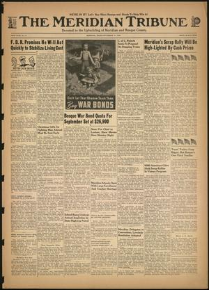 Primary view of object titled 'The Meridian Tribune (Meridian, Tex.), Vol. 49, No. 17, Ed. 1 Friday, September 11, 1942'.