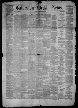 Primary view of object titled 'Galveston Weekly News (Galveston, Tex.), Vol. 17, No. 9, Ed. 1, Tuesday, June 5, 1860'.