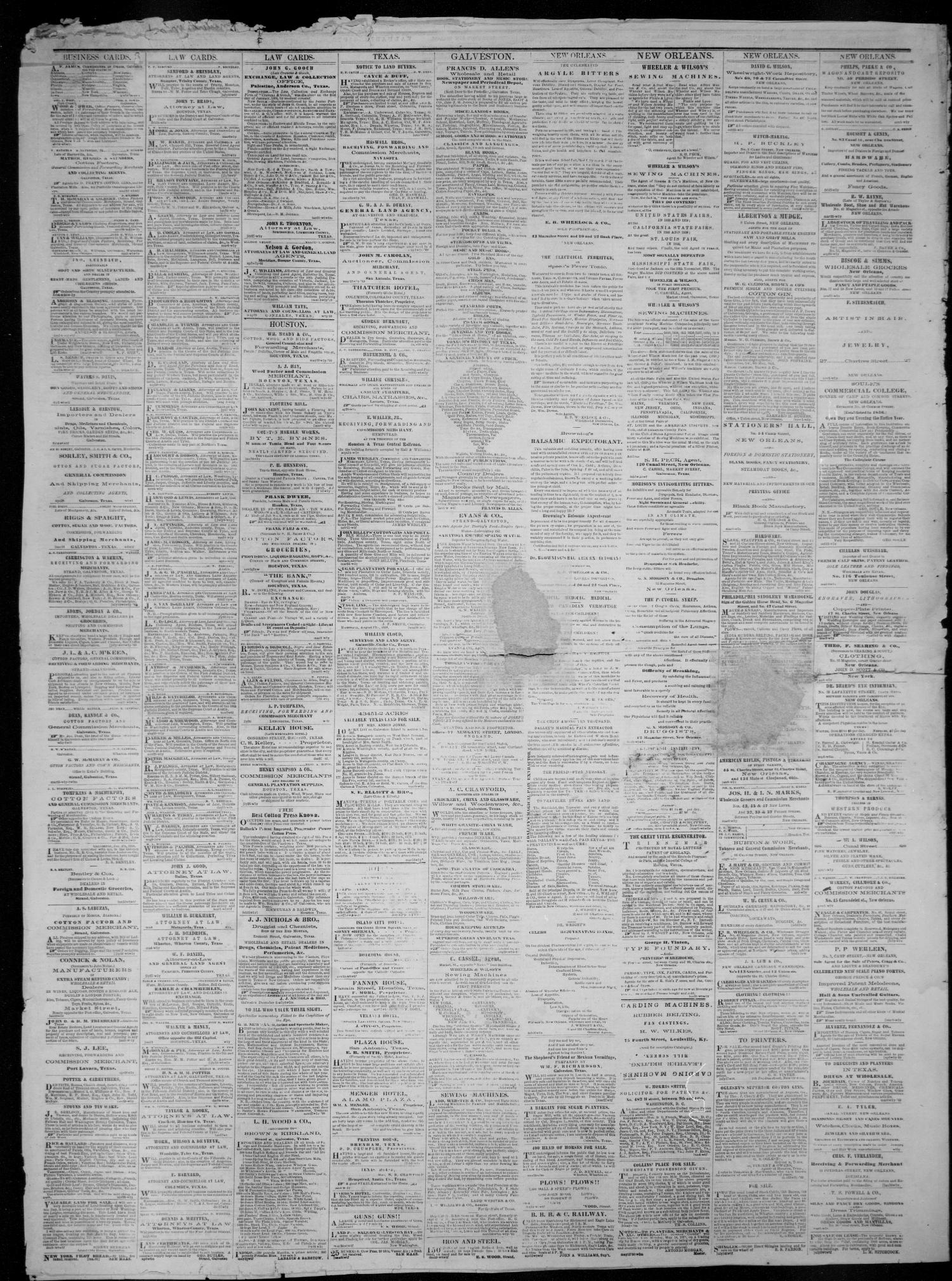 Galveston Weekly News (Galveston, Tex.), Vol. 17, No. 21, Ed. 1, Tuesday, August 28, 1860                                                                                                      [Sequence #]: 4 of 4