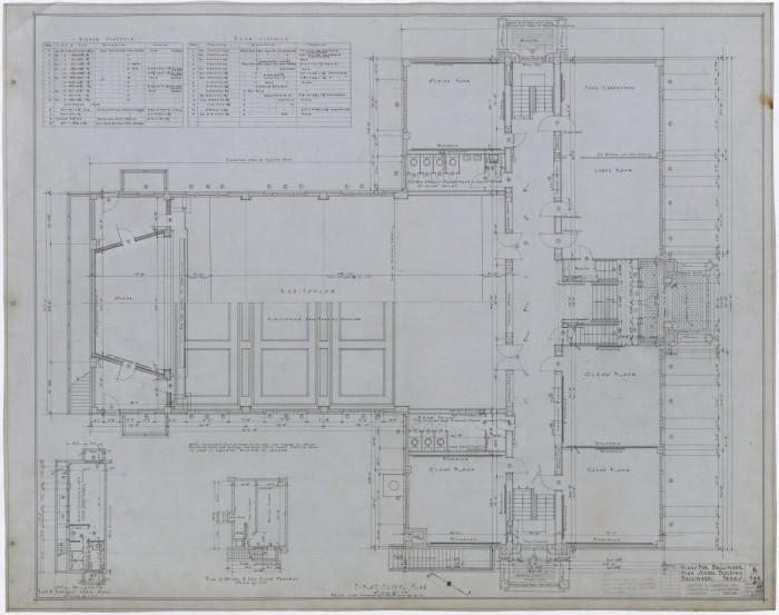 Ballinger High School First Story Floor Plan The Portal To Texas History