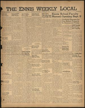 Primary view of The Ennis Weekly Local (Ennis, Tex.), Vol. 21, No. 36, Ed. 1 Thursday, September 5, 1946