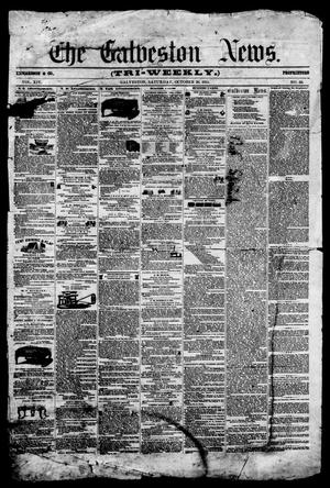Primary view of object titled 'The Galveston News (Galveston, Tex.), Vol. 14, No. 50, Ed. 1, Saturday, October 20, 1855'.