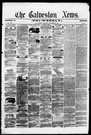 Primary view of object titled 'The Galveston News (Galveston, Tex.), Vol. 14, No. 54, Ed. 1, Tuesday, October 30, 1855'.