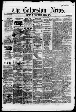 Primary view of object titled 'The Galveston News (Galveston, Tex.), Vol. 14, No. 58, Ed. 1, Thursday, November 8, 1855'.